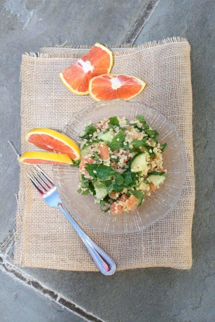millet salad with oranges and mint