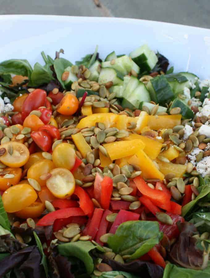 Fall Salad With Pumpkin Seeds and Feta