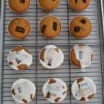 Pumpkin Chocolate Chunk Muffins With Orange Glaze