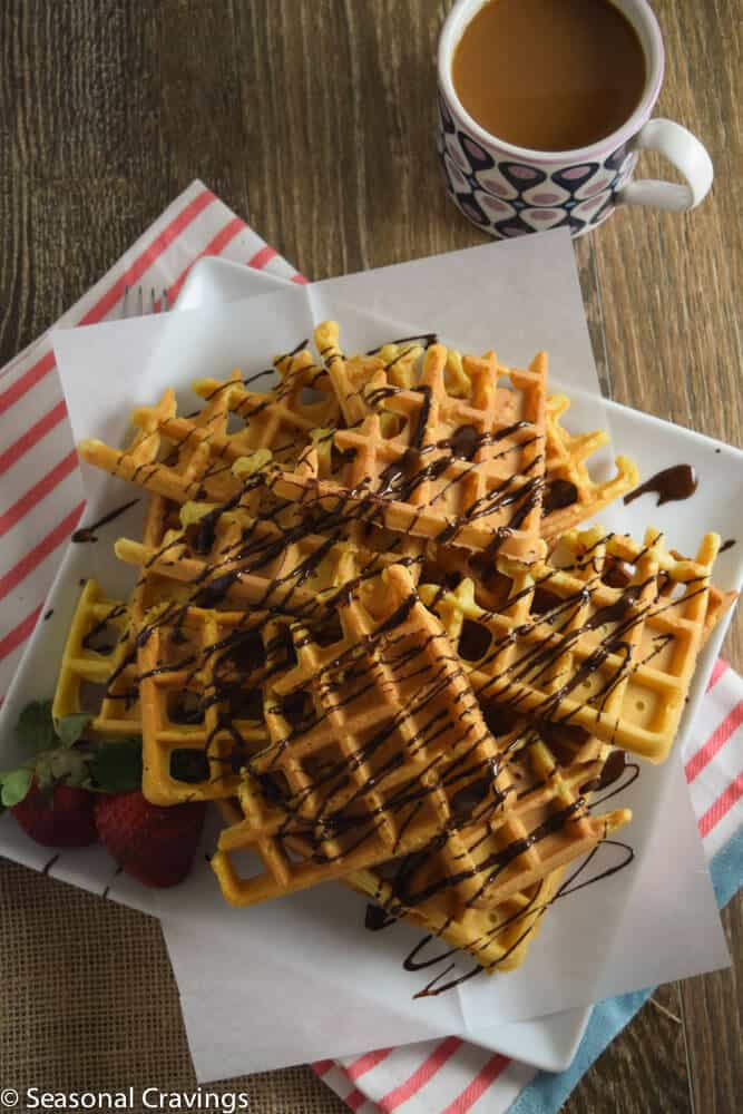 Gluten Free waffle recipe with chocolate