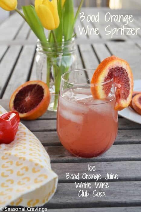 Blood Orange Wine Spritzer Seasonal Cravings