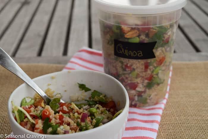 Whole Foods California Quinoa Salad in a plastic container