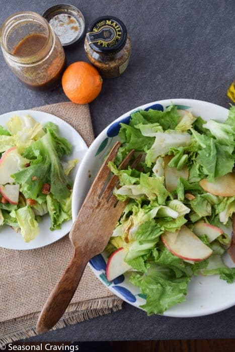 Escarole Salad With Apples and Smoked Almonds