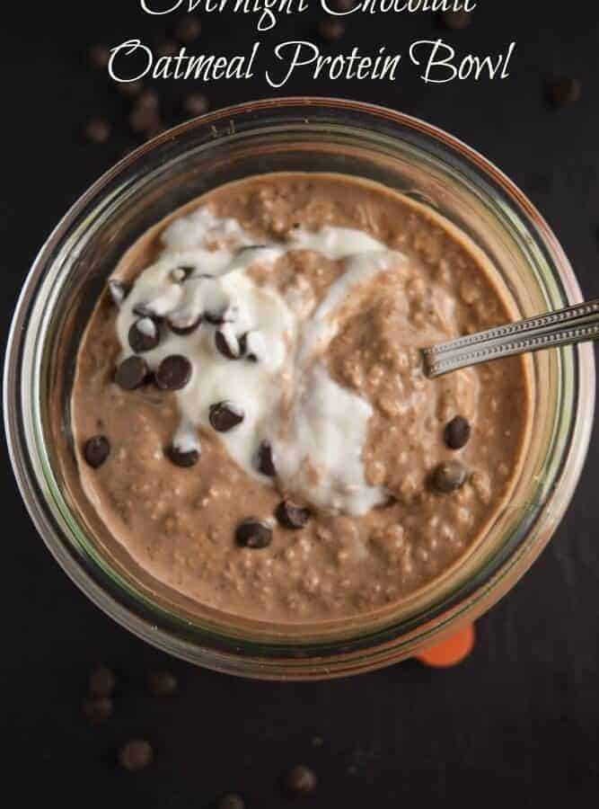 Overnight Chocolate Oatmeal Protein Bowl