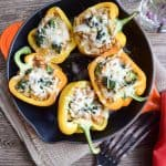 Quinoa Stuffed Peppers With Broccoli