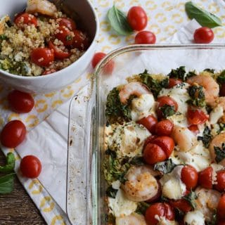 Shrimp, Quinoa and Kale Bake