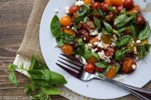 Grilled Tomato Salad With Basil