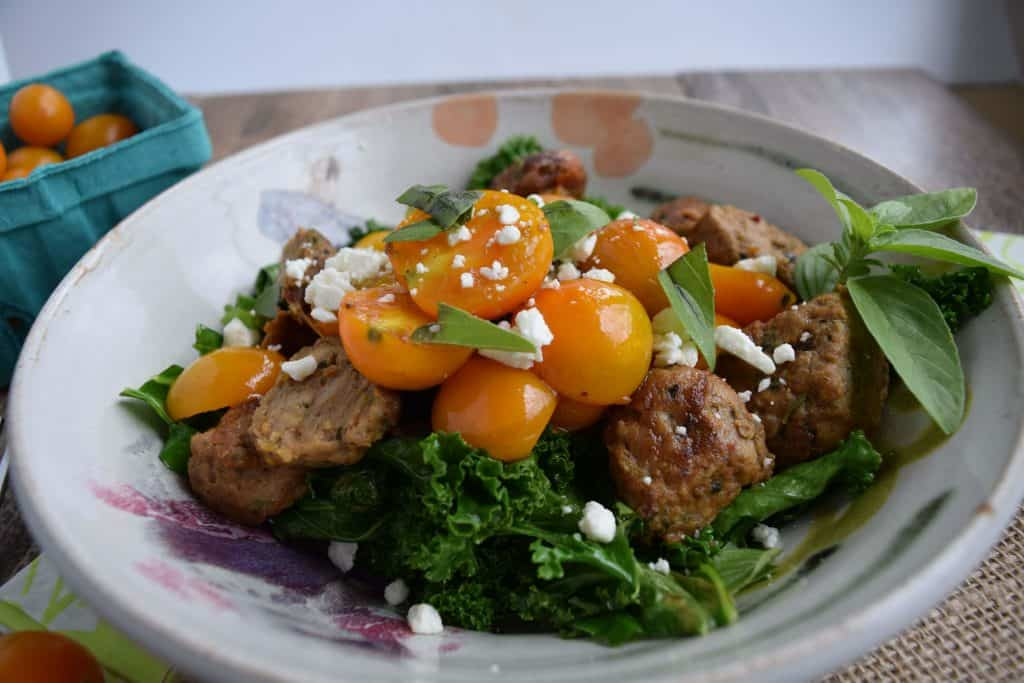 Sausage, Kale and Tomato Saute