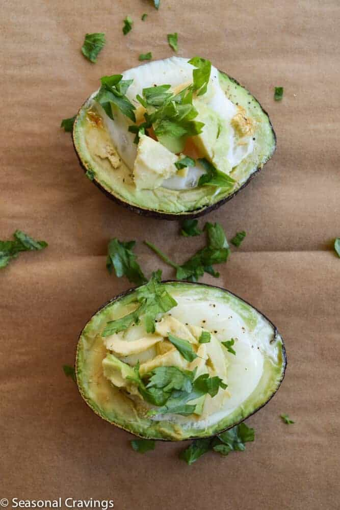 Baked Avocado with Egg