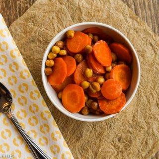 Maple Carrots and Chickpeas