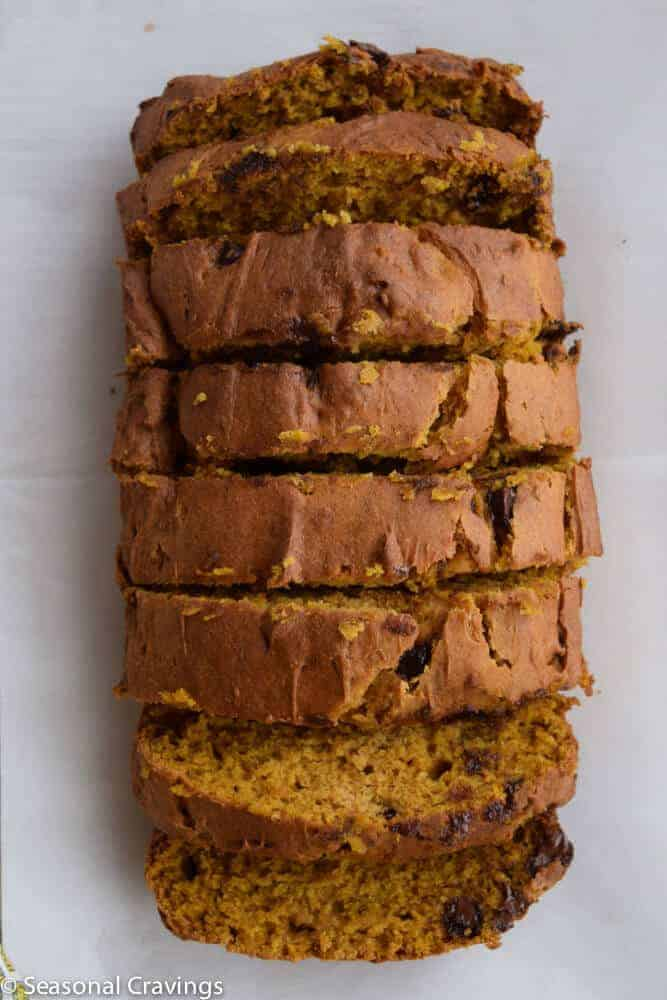 Gluten Free Pumpkin Bread on a sheet pan