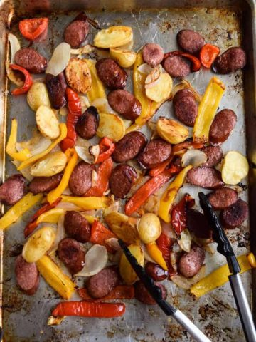 Sheet Pan Sausage With Vegetables