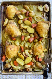 Sheet Pan Chicken With Tumeric