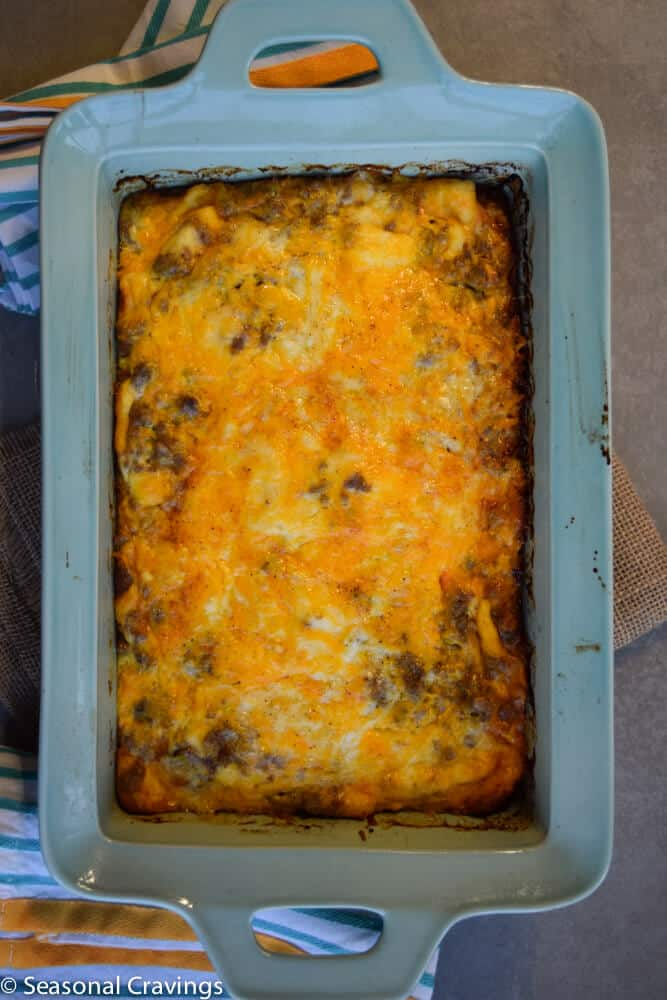 Never Fail Sausage and Egg Casserole | seasonalcravings.com