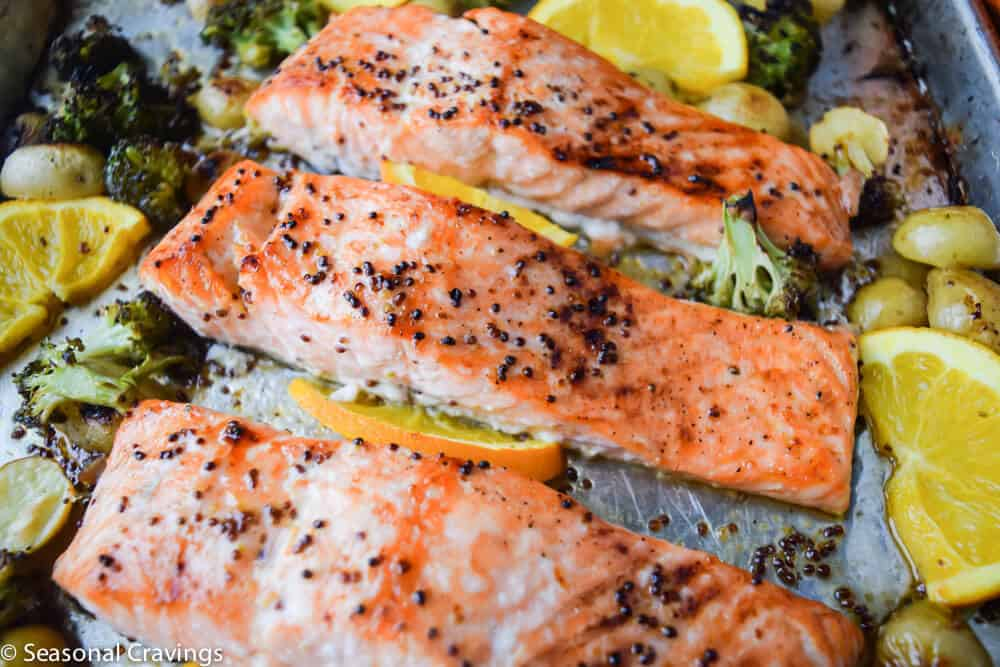Sticky Maple Salmon | seasonalcravings.com