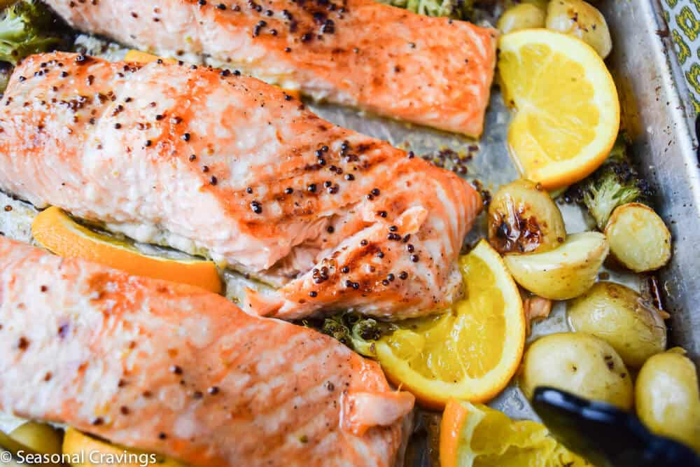Sticky Maple Salmon | seasonalcravings.com