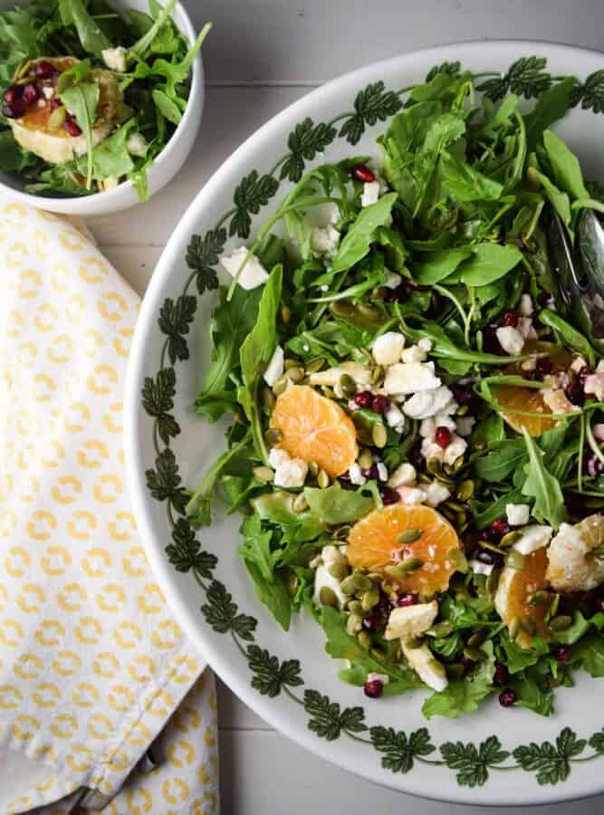 Arugula, Orange and Pomegranate Salad