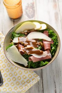 Warm Kale Salad with Prosciutto and Manchego