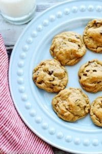 Five Ingredient Peanut Butter Chocolate Chip Cookie