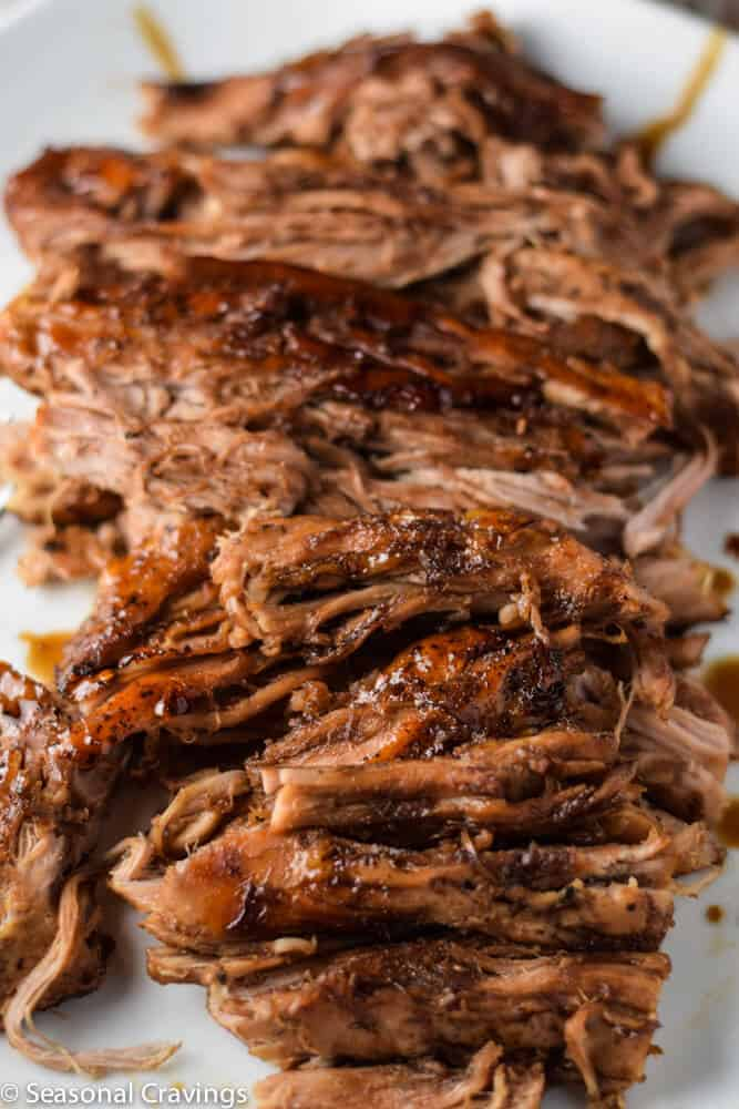 Slow Cooker pork tenderloin up close