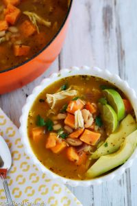 White Chicken Chili with Sweet Potatoes