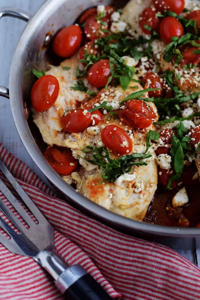 Easy Balsamic Chicken in a skillet
