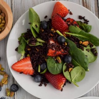Black Rice Salad with Berries