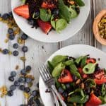 Black Rice and Spinach Salad