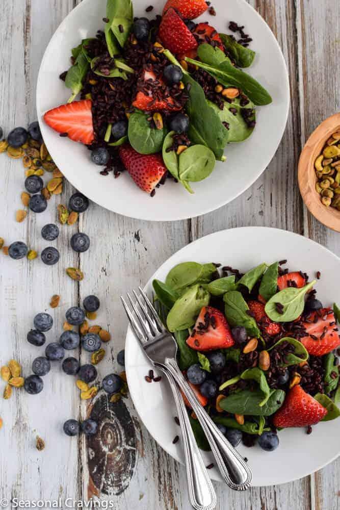Black Rice Salad with Berries