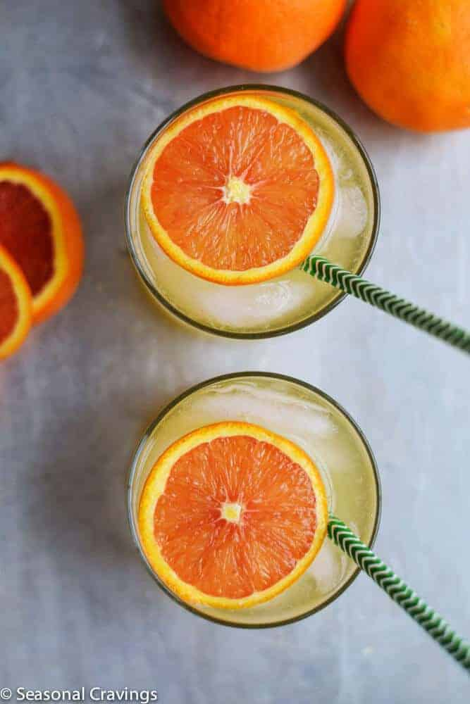 Limoncello and Orange Cocktail