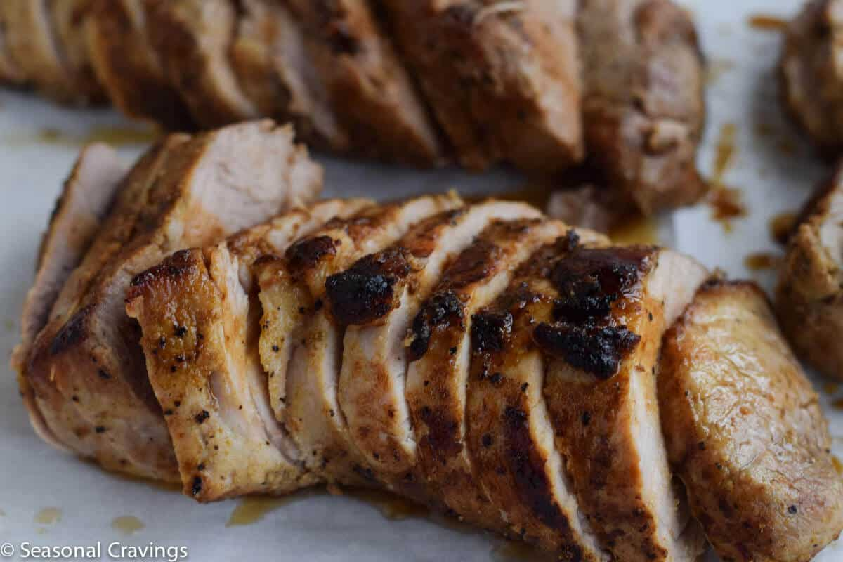 Brown Sugar Pork Tenderloin up close