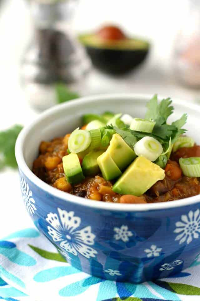 Slow Cooker Sweet Potato Quinoa Chili