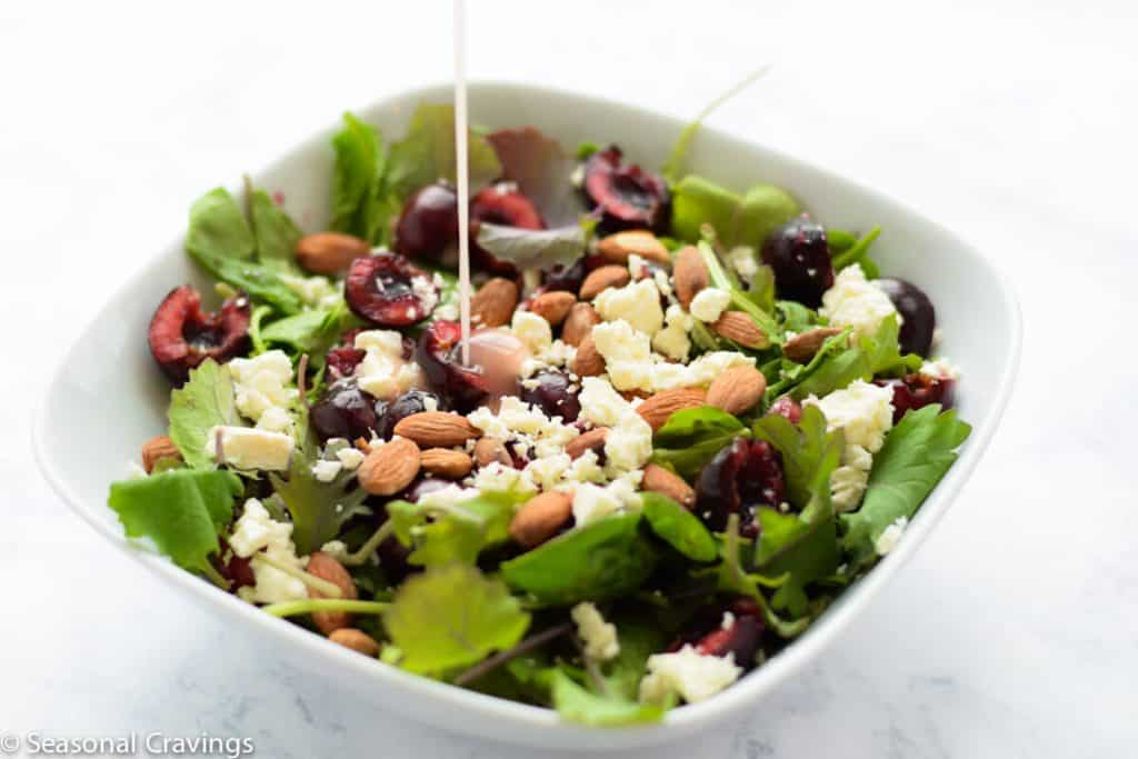 Arugula Salad with Cherries and Feta