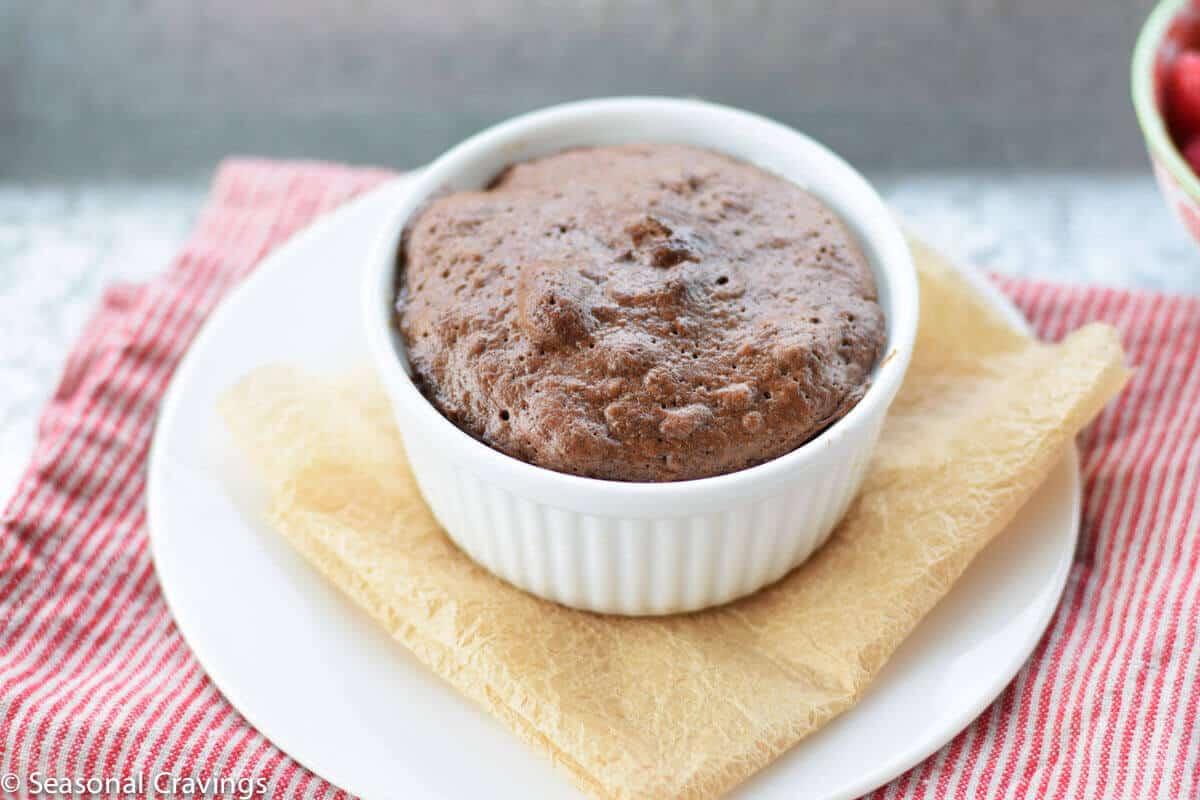 Gluten Free Chocolate Cashew Mug Cake