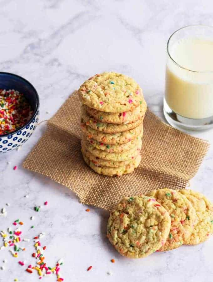 Cake Mix Confetti Cookies