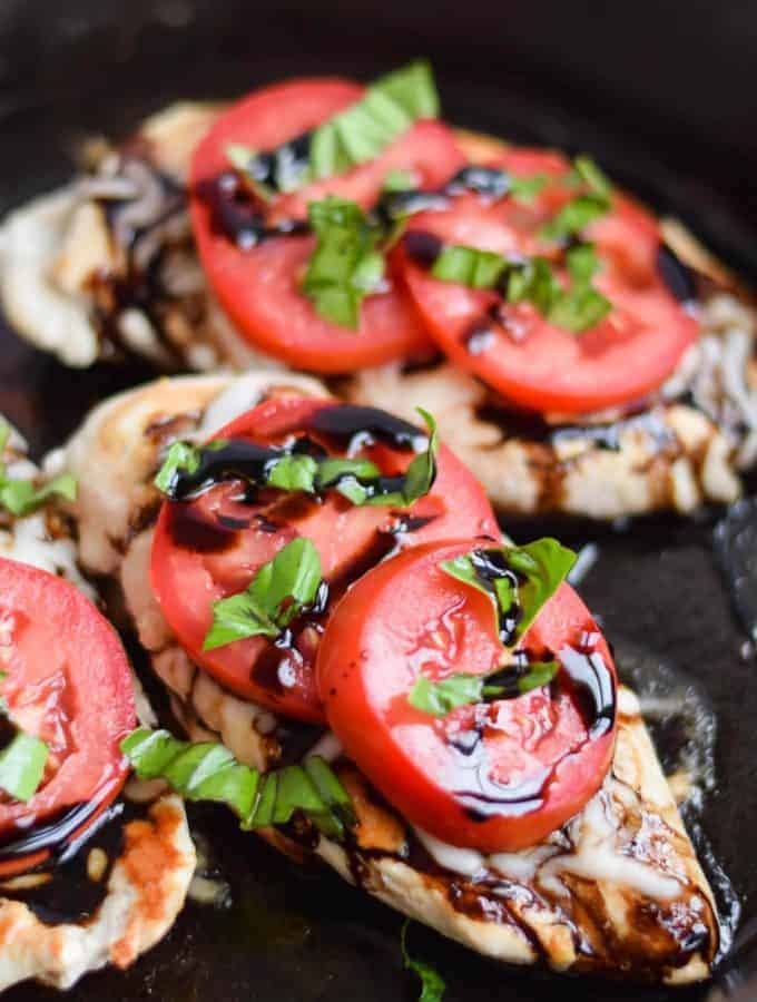 Five Ingredient Caprese Chicken