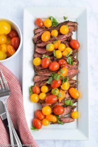 Skirt Steak with Tomatoes