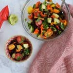 Skinny Cucumber and Tomato Salad