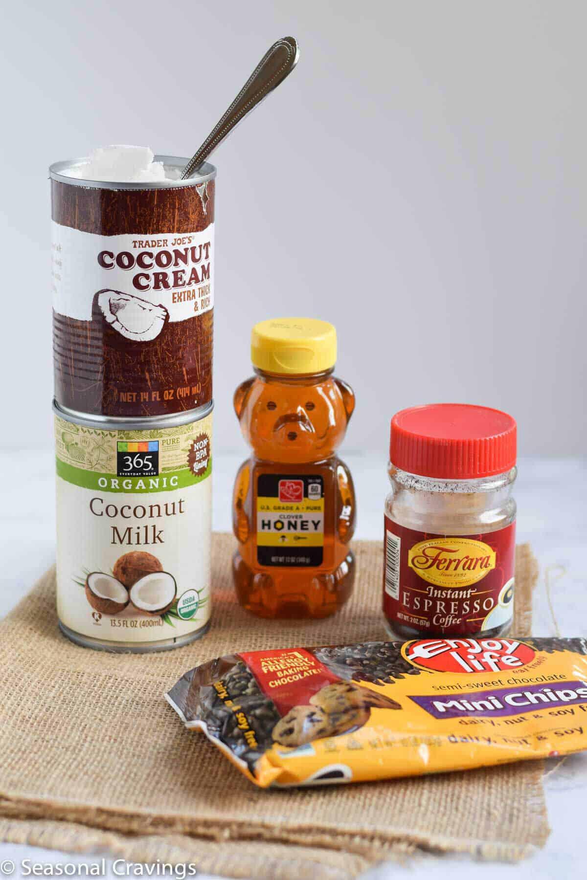Coconut Espresso Chocolate Chip Ice Cream ingredients