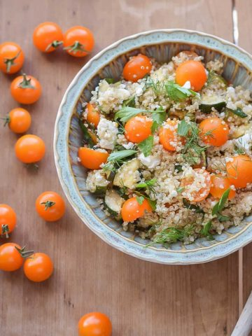 Quinoa with Zucchini and Tomatoes