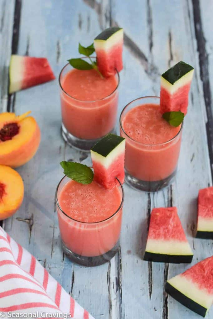 Watermelon Peach Smoothie