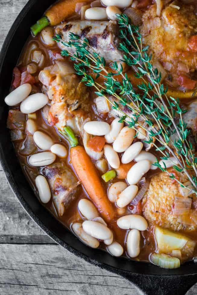 Easy Cassoulet with white beans, carrots and rosemary