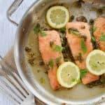 Gluten Free Salmon Piccata