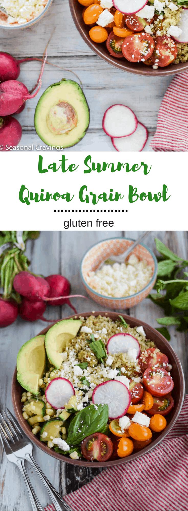 Late Summer Quinoa Grain Bowl