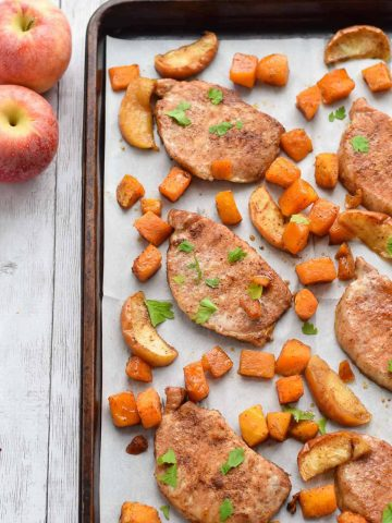 Sheet Pan Brown Sugar Pork Chops