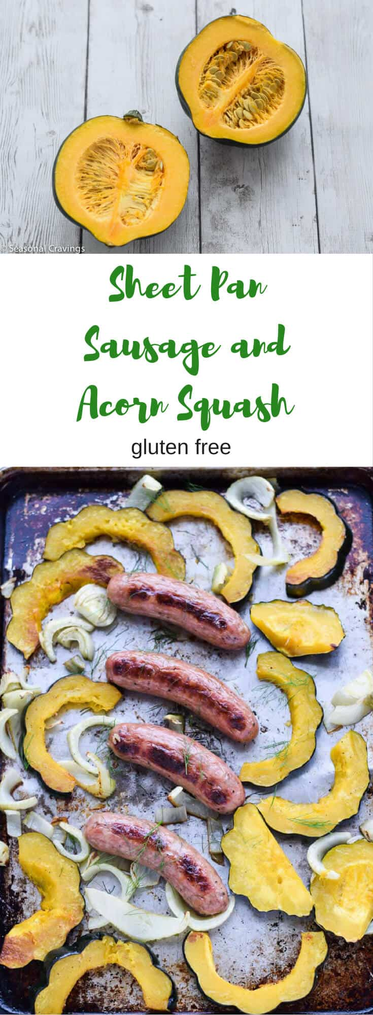 Sheet Pan Sausage and Acorn Squash