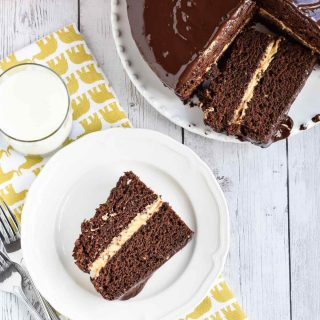 Chocolate Cake with Pumpkin Filling
