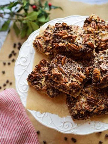 Gluten Free Chocolate Pecan Pie Bars
