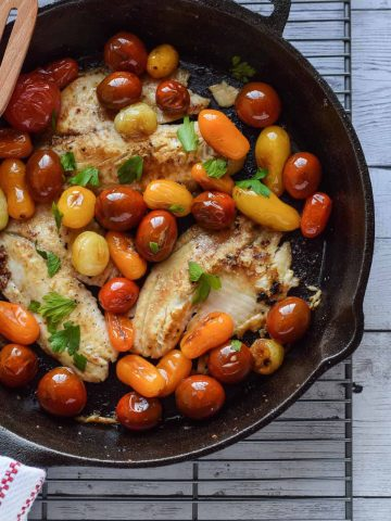 Skillet Tilapia with Tomatoes