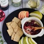 Pomegranate Cranberry Baked Brie